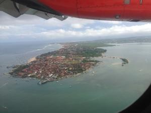 Bali von Flugzeug